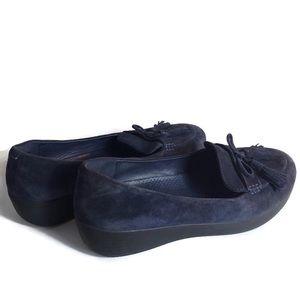 Fitflop Blue Tassel Suede Loafers